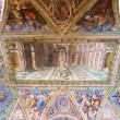 Fresco on the ceiling in the Vatican Museum — Stock Photo