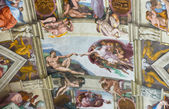 Fresco on the ceiling in the Vatican Museums, Rome — Stockfoto