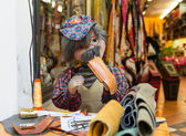 Puppet funny tailor in Florence — Stock Photo