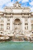 Trevi Fountain (Fontana di Trevi) in Rome — Stock Photo