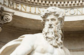 Neptune statue of Trevi Fountain (Fontana di Trevi) in Rome — Stock Photo