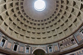 Internal part of dome in Pantheon in Rome — Stock Photo