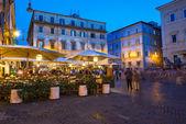 Piazza Santa Maria in Trastevere in Rome — Stock Photo