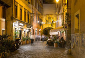 Old street in Trastevere in Rome — Stock Photo
