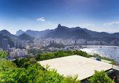 View of Corcovado and Botafogo in Rio de Janeiro — Foto Stock