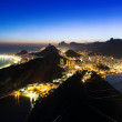 Night view of Botafogo and Copacabana beach in Rio de Janeiro — Stock Photo #44063273