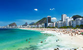 View of Copacabana beach in Rio de Janeiro — Stock Photo