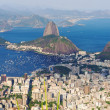 The mountain Sugar Loaf and Botafogo in Rio de Janeiro — Stock Photo