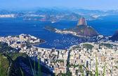 The mountain Sugar Loaf and Botafogo in Rio de Janeiro — Stock Photo