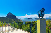 The mountain Sugar Loaf and Guanabara bay in Rio de Janeiro — Stock Photo
