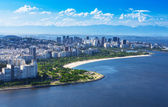 View of Flamengo beach and district and Centro in Rio de Janeiro — Foto Stock