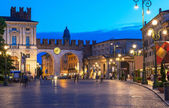 Medieval Gates to Piazza Bra in Verona at night — Stock Photo