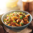 Stock Photo: Bowl of rigatoni pastwith sausage
