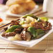 Pepper beef at restaurant — Stock Photo