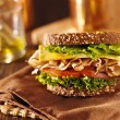 Stock Photo: Deli meat sandwich with turkey