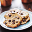Plate of chocolate chip cookies — Stock Photo #30456649