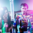 Teens at party doing drugs — Stock Photo