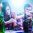 Drug using teens at house party. — Stock Photo