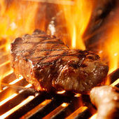 Beef steak on the grill — Foto Stock