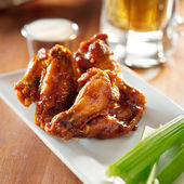 Bbq buffalo wings — Stock Photo