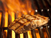 Salmon fillet on the grill — Stock Photo