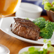 Stock Photo: Steak dinner