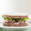 Stock Photo: Deli meat sandwich