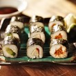 Vegetarisushi rolls — Stock Photo #33604977