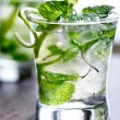 Two cold mojitos — Stock Photo