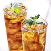Cold iced tea — Stock Photo
