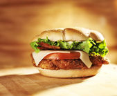 Crispy chicken sandwich — Stock Photo