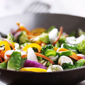 Vegetarian wok stir fry — Stock Photo