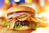 Gourmet hamburger — Stock Photo