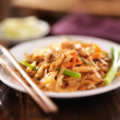 Stock Photo: Pad thai with chicken dish