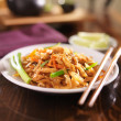 Pad thai with chicken dish — Stock Photo