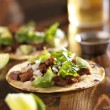 Authentic mexican tacos with beef — Stock Photo