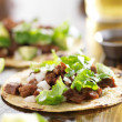 Authentic mexictacos with beef — Stok Fotoğraf #39597625