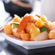 Sweet and sour chicken chinese dish — Stock Photo