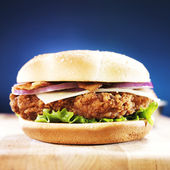 Fast food crispy chicken sandwich — Stock Photo