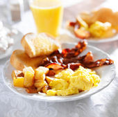 Breakfast with bacon — Stock Photo