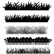 Grass, shrubs — Stock Vector #17977997