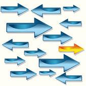 Strzałka kierunku grafika 3d — Wektor stockowy