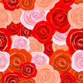 Rose seamless background — Stock Vector