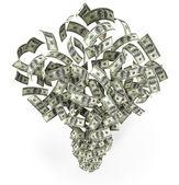 Fliegende dollar — Stockfoto