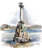 手工绘制的灯塔 — 图库照片