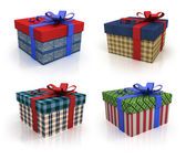 Colored box with gifts — Stock Photo