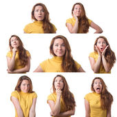 Woman emotions — Foto Stock