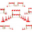 Traffic signs of repair compilation — Stock Photo