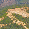 Deforestation and erosion — Stockfoto