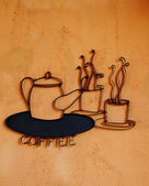 Coffee sign on wall — ストック写真
